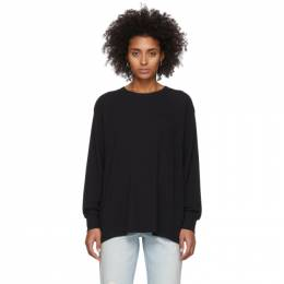T by Alexander Wang Black Tilted Pocket Long Sleeve T-Shirt 4CC1201078