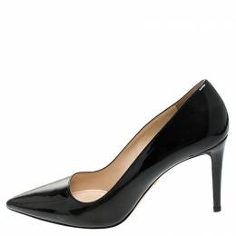 Prada Black Patent Leather Pointed Pumps Size 39