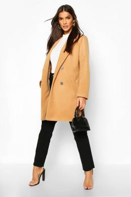 Oversized Boyfriend Wool Look Coat Boohoo FZZ72982-111-18