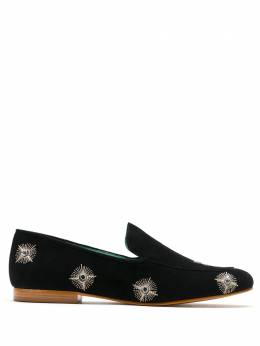 Blue Bird Shoes embellished suede loafers S20012370123