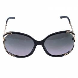 Roberto Cavalli	 Black/Grey 669S Clerodendro Oversized Round Sunglasses 246195