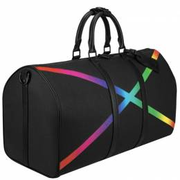 Louis Vuitton	 Rainbow Taiga Leather Keepall Bandouliere 50 Travel Bag