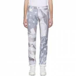 424 Off-White Flag Collage Jeans 192010M18600206GB