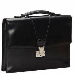 Cartier Black Leather Briefcase