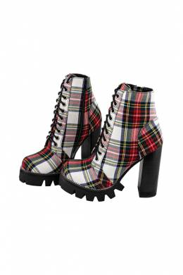 Ботильоны Jeffrey Campbell LEGION-2 RED PLAID