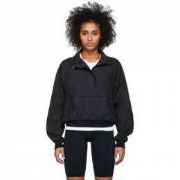 John Elliott Black Half-Zip Sail Jacket W32 WH177F4610A