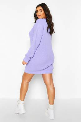 Plus Crew Neck Jumper Dress Boohoo PZZ67694-137-350