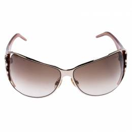 Roberto Cavalli	 Caramel Brown/Brown Gradient Tizio 387S Oversized Rectangle Sunglasses 247831