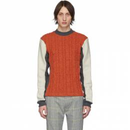 Orange Woolmark Collection Panelled Cable Sweater Daniel W. Fletcher 201041M20100602GB