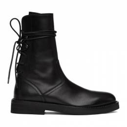 Ann Demeulemeester Black Back Lace-Up Tucson Boots 201378M25506506GB