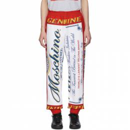 Moschino Red and White Budweiser Edition Logo Lounge Pants 201720M19003103GB