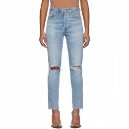 Citizens of Humanity Blue Liya High-Rise Classic Jeans 201030F06901903GB