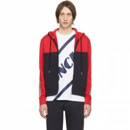 Moncler Red and Black Maglia Cardigan Hoodie 201111M20202303GB
