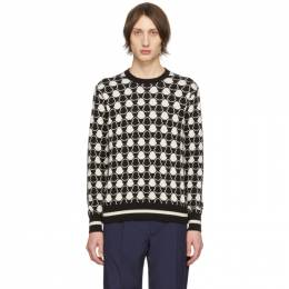 Moncler Black and White Jacquard Bell Sweater 201111M20101004GB
