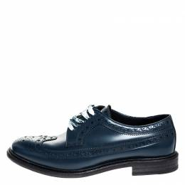 Burberry	 Blue Brogues Leather Alexton Lace Up Derby Size 45.5