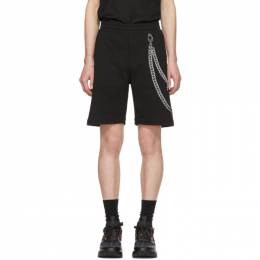 Alexander McQueen	 Black Chain Embroidery Shorts 201259M19301003GB