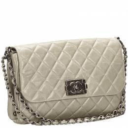 Gray Matelasse Leather Boy Flap Bag Chanel