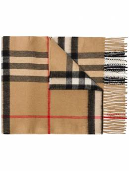 Burberry brown check cashmere scarf 8018173