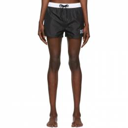 Diesel Black and White Sandy Swim Shorts 00SV9T OPAZD