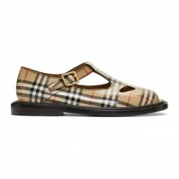 Burberry	 Beige Hannie T-Bar Shoes 8010911