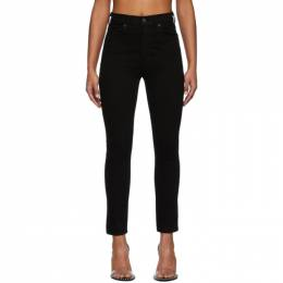 Citizens of Humanity Black Olivia High-Rise Slim Ankle Jeans 1728-1146