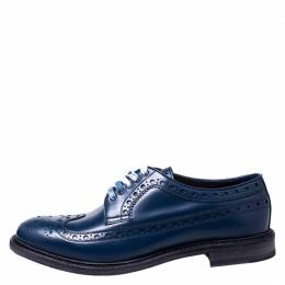 Burberry	 Blue Brogue Leather Alexton Lace Up Derby Size 45