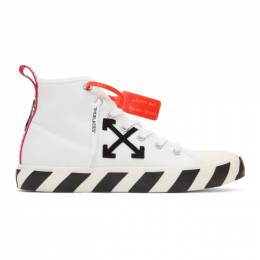 Off-White White and Black Arrows Mid-Top Sneakers OMIA119S20D330380110