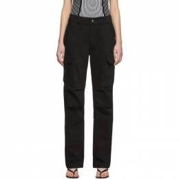 T by Alexander Wang Black Twill Cargo Trousers 4WC1204011