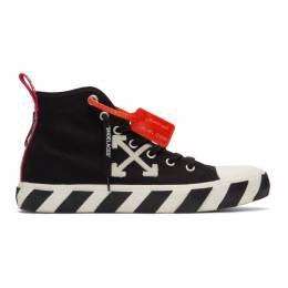Off-White Black and White Arrows Mid-Top Sneakers OMIA119S20D330381001