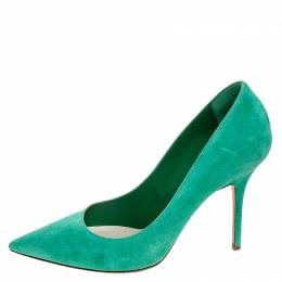 Dior Green Suede Pointed Toe Pumps Size 41 252085