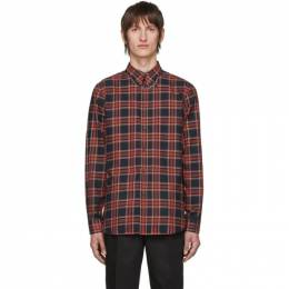Givenchy Red and Black Check Piercing Shirt BM60GG1Y71