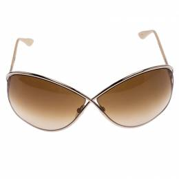 Tom Ford Brown Gradient TF 130 Miranda Oversize Sunglasses