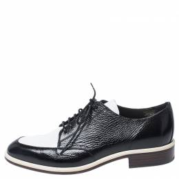 Lanvin Two Tone Leather Derby Shoes Size 38