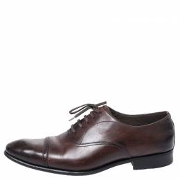 Tom Ford Brown Leather Charles Oxfords Size 43.5
