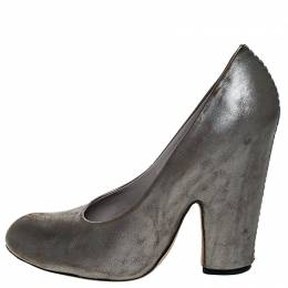 Marc Jacobs Metallic Grey Leather Pumps Size 37 Marc by Marc Jacobs 252460