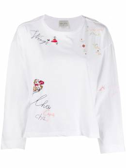 Forte Forte My T Shirt motif embroidered T-shirt 7094MYTSHIRT