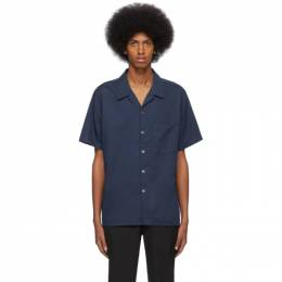 PS by Paul Smith Blue Casual Bowling Shirt M2R-832T-A20770