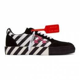 Off-White Black and White Diag Low Vulcanized Sneakers OMIA085R20C210180129