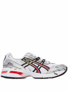 Asics white, silver and red Gel 1090 sneakers 1022A308100