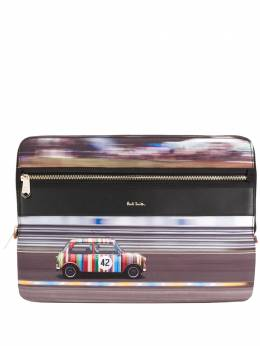 Paul Smith	 car print clutch bag M1A5550AMINRCPR