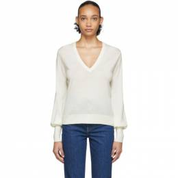 Chloe Off-White Wool Sweater CHC20SMP91910