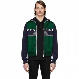 Versace Green and Navy Medusa Track Jacket TBCA84842 A230656