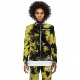 Palm Angels Black and Yellow Chenille Tie-Dye Track Jacket PMBD001R204690141060