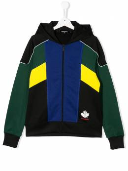 Dsquared2 Kids TEEN colour blocked zipped hoodie DQ03YAD00X5