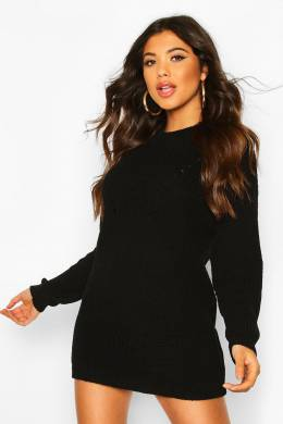 Turtle Neck Knitted Dress Boohoo FZZ75255-105-34