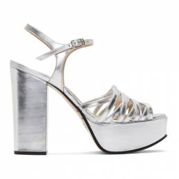 Marc Jacobs Silver The Glam Heeled Sandals M9002287
