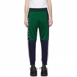 Versace Green and Navy Compilation Lounge Pants A84841 A230656