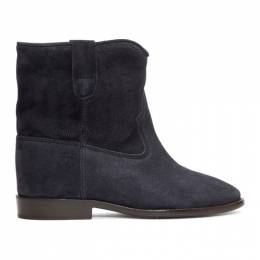 Isabel Marant Black Embroidered Crisi Boots 20PBO0103-20P025S