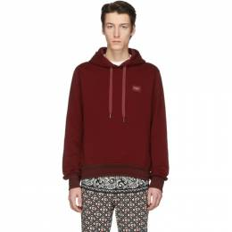Dolce and Gabbana Red Branded Plate Hoodie G9PD4T G7VAS