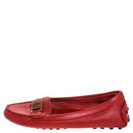 Tory Burch Red Kendrick Driving Loafers Size 38